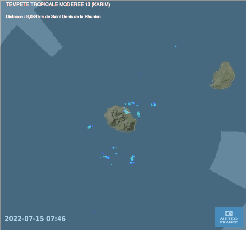 Trajectoire radar REUNIONBYSAT